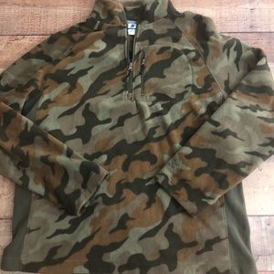 Starter Camo Fleece Pullover Size Large